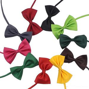 19 colors Pet tie Dog tie collar flower accessories decoration Supplies Pure color bowknot necktie