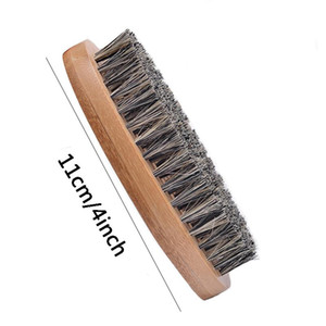 Beard Bro Shaping Beard Brush Sexy Man Gentleman Beard Trim Template Grooming Shaving Comb Styling Tool Wild Boar Bristles VT0668