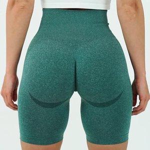 Vital senza saldatura Sport Corto Donne vita alta Estate stretto Palestra Leggings Squat Proof pancia controllo allenamento Pantaloncini da corsa delle donne