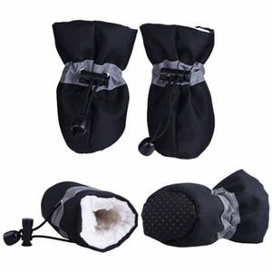 4pcs / set Shoes Pet para cães Filhote de Inverno antiderrapante Quente Cashmere Chuva Neve Botas For Dogs Calçado Grosso quente para cães pequenos 7efi #