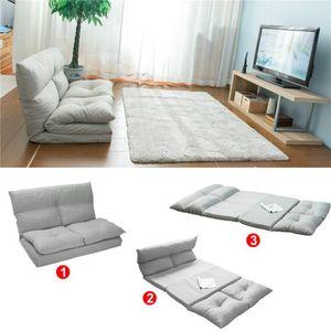 تصميم عصري 2020 قابلة للطي كرسي صالة الطابق أريكة سرير أريكة مع وسادة وسادة (رمادي) الأسهم الأمريكية الشحن السريع مريحة وناعمة PP036318AAA