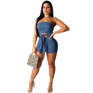 YY5060 Europeu e parte superior do tubo de moda sexy americano jumpsuit roupas quentes venda de imitação jeans feminino 2020
