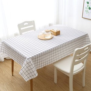 Küche PEVA Wasserdichte Tischtuch Einweg-Tischdecke Hipster Restaurant karierte Tischdecke Tischdecke teapoy Mat