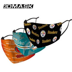 2020 concepteur masque facial Masques Rugby League chef Patriot d'Eagle Tiger Steel équipe de football mince mode Masque lavable masque de visage