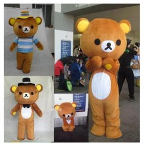 Janpan Rilakkuma Mascot костюмы Fancy медведь костюм талисмана Карнавальный Костюм