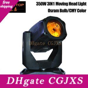 Gigertop Новый дизайн 350w 3в1 Cym Moving Head Light High Power Beam / гобо / Wash эффект С CMY Cto Цвет стекла 3pin / 5pin Dmx гнездо