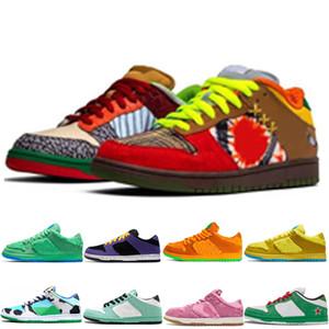 2020 جديد وصول dunk chaussures الرجال النساء الاحذية ما هي dunk الأسود الذهب syracuse الليزر البرتقال البرازيل doernbecher أحذية رياضية