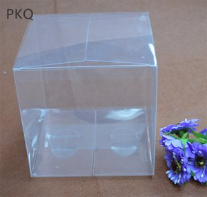 5Pcs Large PVC Boxes Clear Dolls Toys Packaging Box Christmas Wedding Party Favors Box Transparent Square Gift 14x14x14cm