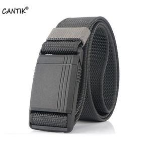 CANTIK الشريحة المغناطيسي الصلب POM البلاستيك الإبزيم أزياء ذات جودة عالية نايلون حزام عارضة الملابس والاكسسوارات 3.8CM العرض CBCA187