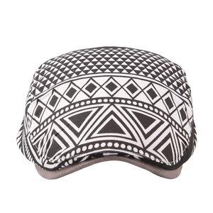 Geometrico donne di estate Duckbill cappello traspirante Hole esterna del cappello di Sun Sun Protection Retro British Style Beret