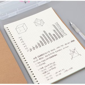 Journal A5 Notebook Kraft Grid Dot Blank Line Dot Drawing Daily Planner Agenda Stationery Management School Office Supplies C0924
