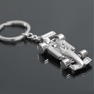 3d F1 Formula One Race Racing Car Model Pendant Zinc Alloy Shining Keyring Keychain Gift Party Flavor Charm Bag Holder Za2842