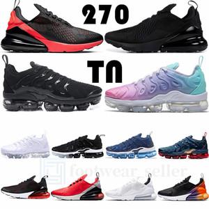 Boyut 12 Vapourmax Tn Artı Erkek Eğitmenler 270 Üçlü Siyah tepki Bred Regency Mor Çekirdek Beyaz Kadınlar Erkek Koşu Ayakkabı Spor Sneakers 36-46