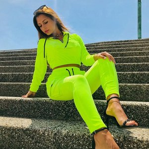 E-Baihui 2020 European and American Autumn and Winter Women's Sports and Leisure Suit Two-piece Suit Solid Color Loose Suit N0504