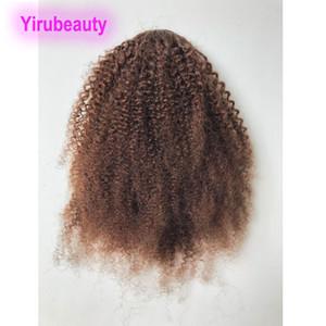 Yirubeauty Malasia 4 # color afro rizado rizado 10-20inch Cola de caballo Cola de caballo de cabello Extensiones Afro rizado rizado al por mayor de cuatro colores
