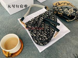 Dior Saddle bag Oblique Twill жаккардового холста тенденция progettista Lusso партии способа мешка 24см BAYSWATER седло мешок конструктора одно плечо сумки седло мешка