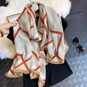 2020 Brand Women Scarf Fashion Plaid Headband Hijab Shawls Lady Wraps Spring Winter Warm Scarves Foulard