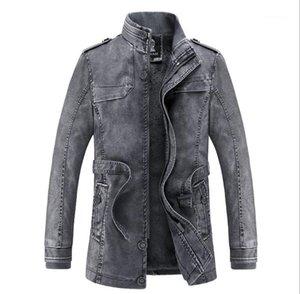 Fourrure Leathers Homme Automne Hiver Gardez pied de col chaud Bouton Zipper Fly Jupettes Manteaux Hommes Mode Outwears Hommes PU