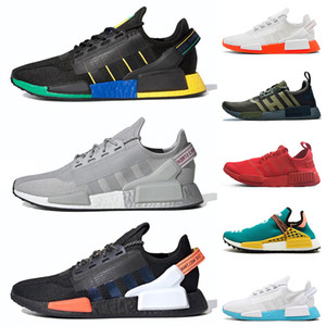 pharell williams adidas human race nmd r1 v2 Chegada Nova 36-47 raça NMD R1 V2 Pharrell Williams Humano Rio De Janeiro Grey Silver Metallic Tiple Trainers Red Outdoor Sport Shoes