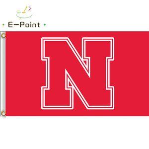 Bandeira da NCAA Nebraska Cornhuskers recentemente poliéster Bandeira 3ft 5 pés * (150cm * 90cm) Flag bandeira decoração presentes voando jardim de casa ao ar livre