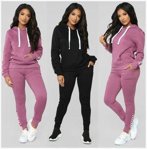 Pocket Long Sleeve Long Pants 2PCS Sets Womens Tracksuits Females Clothing Panelled Womens Designer Tracksuits Casual Big
