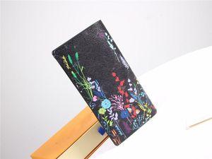 مصمم المحافظ وحقائب اليد أزياء العلامة التجارية M66540 # بيير سافورنان دى برازا Damier غرافيت قماش كيس نقود المحفظة بطاقة حامل
