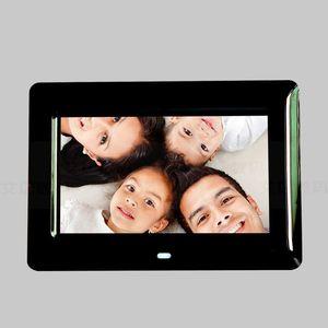 Cgjxs 7-дюймовый HD Digital Photo Frame Video Player Цифровая фоторамка с музыкой Video Player Мульти -Функция фоторамке