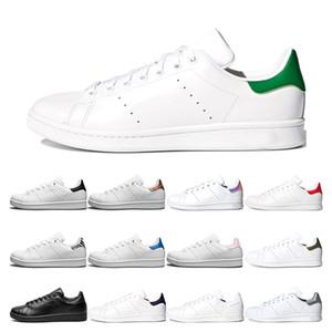 adidas stan smith  원본 슈퍼 스타 캐주얼 신발 블랙 화이트 골드 녹색, 빨간색 슈퍼 스타 패션 플랫 운동화 크기 36-44 망