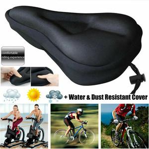 Assento 3D suave espessamento bicicleta respirável Bicycle Saddle Seat Cover Confortável espuma do assento Mountain Bike Ciclismo Pad Almofada Cove