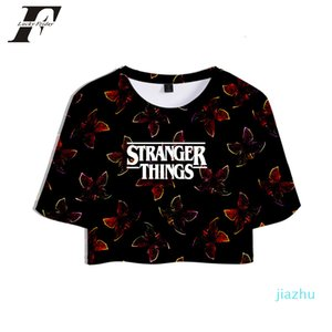 Hot Sale New Stranger Things 3D t shirt women Horror TV series Stranger Thing 3D tshirt Tops Crops t-shirt Short Sexy Sale Casual Clothes