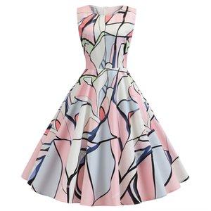 TyGTc Printed ungepflegt Ärmel Pengpeng gedrucktes Kleid ungepflegt Fluffy flauschiges Rock ärmelloses Kleid Pengpeng Rock