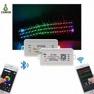 LED 스트립 라이트 컨트롤러 SP105E SP108E 와이파이 블루투스 4.0 지원 IOS / 안드로이드 APP WS2811 2812 2801 6803 IC LED 스트립 픽셀 제어 TJMV 번호