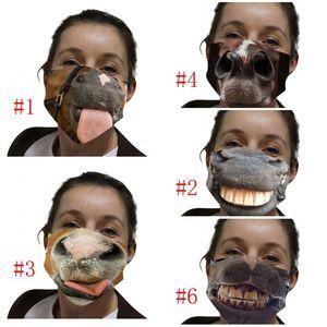 Пылезащитный Ткань маска для лица многоразовых Mascarilla моющийся Респиратор Анти Haze ветрозащитный Ультрафиолетовое Proof Spoof Смешные лошади 4 5wsi D2