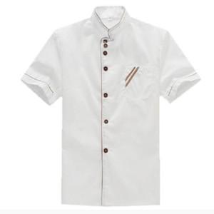 Chef Veste à manches courtes Diner Uniforme Hotel Restaurant Vêtements de travail Hommes Femmes professionnelles Salopette Costume Sushi