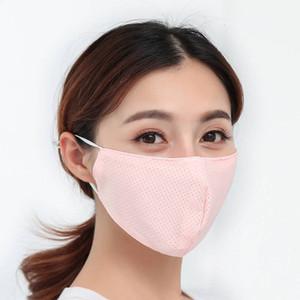 Лето Thin Unisex против пыли 2020 Face Рот Обложка РМ2,5 маска Маски пыле Анти-загрязнение моющийся многоразовый лед Шелковые инструменты партии