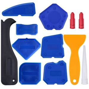 12pcs set Silicone Glass Cement Scraper Floor Tile Cleaner Surface Residual Glue Spatula Mini Handmade Tools Set