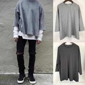 Color tripulação pescoço solto tshirt moda casual rua estilo casais roupas verão designer mens tshirts reversível sólido