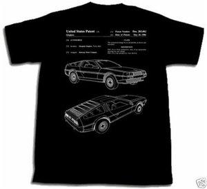 Shirt Delorean Dmc brevetto Nuova maglietta ogni dimensione Tshirt T 12 John Deloreon Future Confortevole Tee Shirt