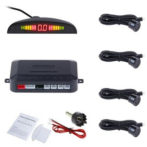 Car LED Radar Parking Sensor With 4 Sensors Parktronic Reverse From Backup Car Parking Monitor Display System