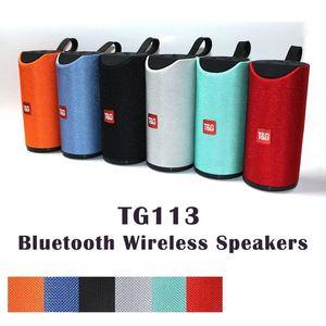 Speakers HOT TG113 Altifalante Bluetooth sem fio Subwoofers Handsfree Chamada Perfil Stereo Baixo Baixo Suporte TF USB Cartão AUX Line In Hi-Fi