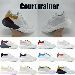 Fashion Court Trainer der Frauen der Männer Chaussures Partei Plattform-beiläufige Schuh-Samt-echtes Leder-Volltonfarben im Freien flache Turnschuhe Sport