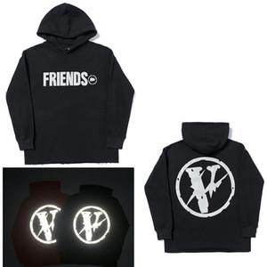 2020 hombres suéter de la marca de ropa más conocidas gran letra V populares cara sonriente gran patrón de par suéter con capucha de la chaqueta B1 s-2xl
