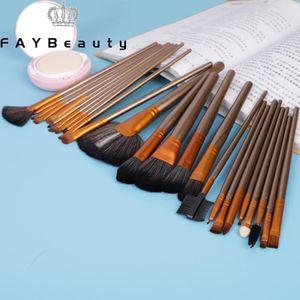 FAYBeauty 24PCS High Quality Makeup Brush Kit For Eyebrows Women Foundation Brush Eyelash Brushes Cosmetics for Face