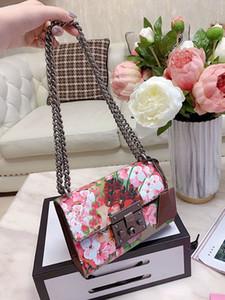 bolsa de alta calidad florece Tian bolsa de hombro crossbody candado de la cadena bolsas flor de las mujeres bolsos de la impresión solapa mensajero florece bolsa 2020 nueva