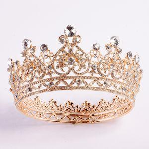 2020 Cristalli di lusso di New Bling Wedding corona d'argento oro strass Principessa Queen Bridal Tiara Crown accessori dei capelli alta qualità poco costosa