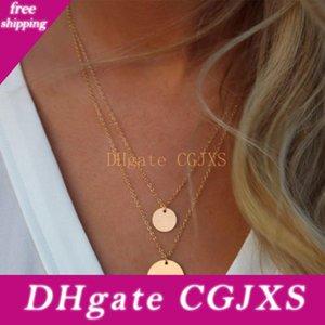 Kisswife двухслойный Золотой Блестки двойной цепи ожерелье, диско Layers, Boho ожерелье, пляж ювелирные изделия