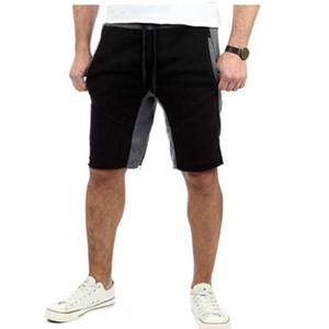 Verão da Europa e norte-americanos dos homens de fitness desportos de lazer calças de cinco pontos, a correspondência de cores em estilo europeu e calções americano me