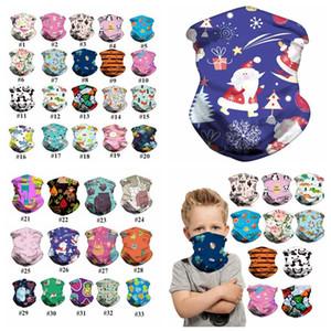 33 Estilos cara de dibujos animados niños Máscara niños Pañuelo creativo Cinta protectora al aire libre bufanda mágica niños del diseñador cubierta de la cara YYA399