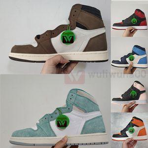 Retros PK Versione Jumpman 1 Travis Scotts Obsidian Chicago 1s Pattini di pallacanestro del Mens 4 4s Bred Cactus Jack 11 11s Concord 45 Sneakers