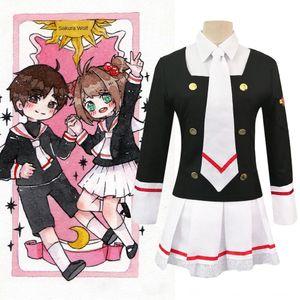 l2sqT forması Sihirli Kart kadın kadın giyim sihirli kart kız Sakura coswear jk Sakura Zhishi okul forması cosply bez sürekli değişen